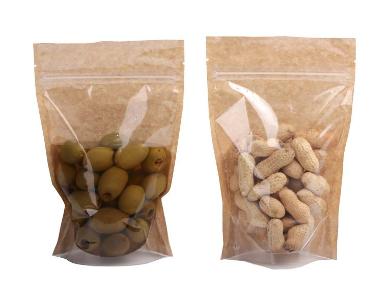 Doy Pack pastatomi maišeliai alyvuogėms