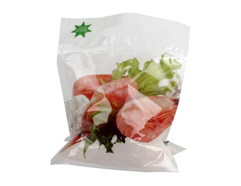 Doy Pack pastatomi maišeliai krevetėms